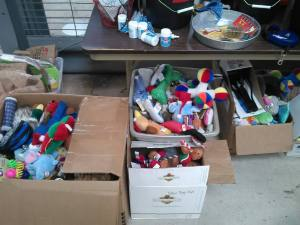Some of the donations from NYC